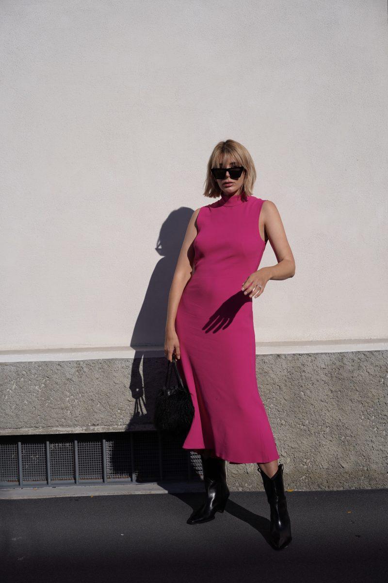 Pinkes-kleid